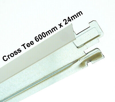 white suspended ceiling Grid Cross Tee Section 24mm x 600mm Sections FAST P&P