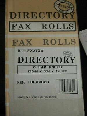 6 Fax Rolls ** Clearance **
