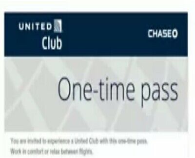 UNITED CLUB PASS - 2 Passes Expire May 08, 2021 E-mail Delivery FAST