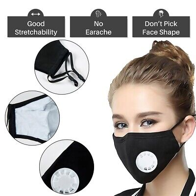 Washable Reusable Activated Carbon Filter With Respirator Filters Face Filter