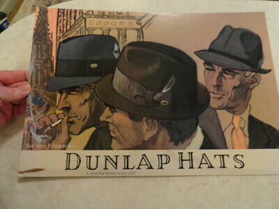 Vintage Dunlap Hats Advertising Sign