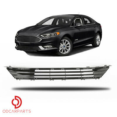 Fits 2017 2018 Ford Fusion Front Bumper Lower Grille Grill Gloss Black