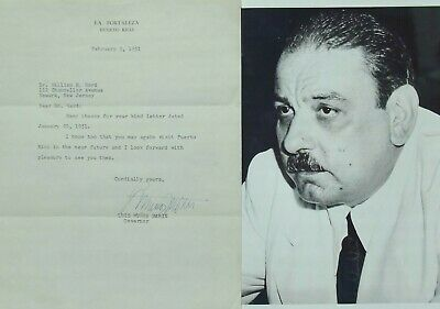 Luis Munoz Marin Governor Puerto Rico 1949-1965 Signed Letter 1944