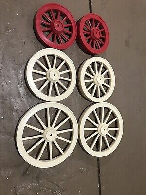 Plastic Model Horse Drawn Wagon wheels from Dick Eighmy Mold.