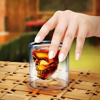 OliaDesign Crystal Skull Pirate Shot Glass Drink Cocktail Beer Cup