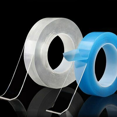 Transparent Magic nano-tape Washable Reusable Double-Sided tape Adhesive Nano