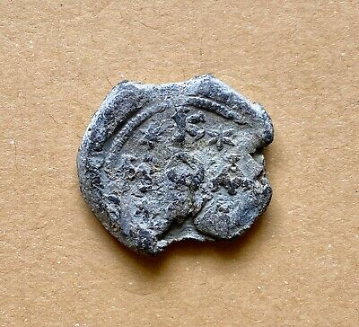 BYZANTINE LEAD SEAL OF COSMAS ASEKRETIS (7th cent.). Important historically seal