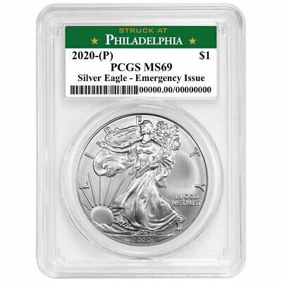 2020 (P) $1 American Silver Eagle PCGS MS69 Emergency Production Philadelphia La