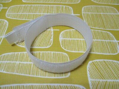 20 x White Hook and Loop Velcro Cable Ties 300mm football hockey goals nets
