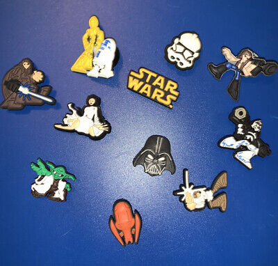 Star Wars Like Shoe Charms Set Of 10- US Seller