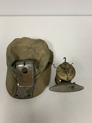 Vintage Antique Autollite Carbide Miners Lamp Cloth Hat Lot