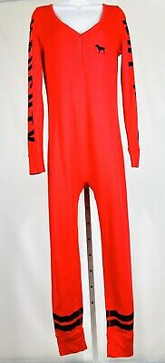 Pink Victorias Secret Size Large One Piece Pajamas All In One Pajamas Red