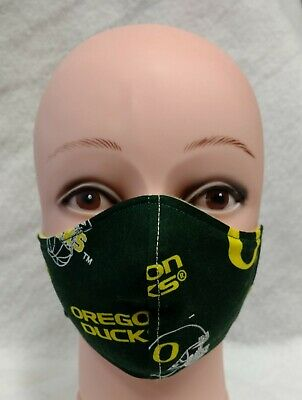Teen to Adult Oregon Duck Face MaskHandmade 100% Cotton Flannel Lined