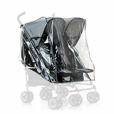 Hauck Universal Raincover for Double Pushchairs, Water Resistant and Durable, Co