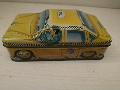 Vintage 1982 Ian Logan Carlectables - Yellow Taxi Gelb Collector Tin England