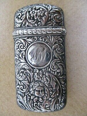 Antique Sterling Match Safe Striker R Wallace And Sons Victorian 1891 Stunning