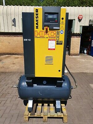 HPC Kaeser Rotary Screw Air Compressor SM12RM 7.5kw 40cfm low hours