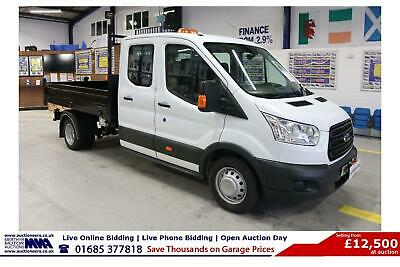 2016 - 16 - Ford Transit T350 2.2Tdci 125Ps 7 Seat Crew Cab Tipper (Guide Price)
