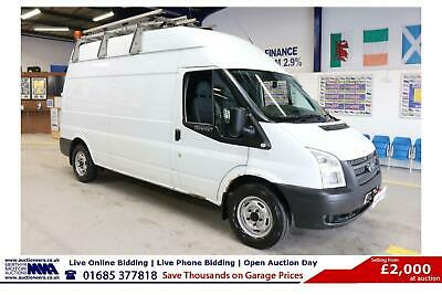 2012 - 12 - Ford Transit T350 2.2Tdci 125Ps Rwd Lwb High Top Van (Guide Price)