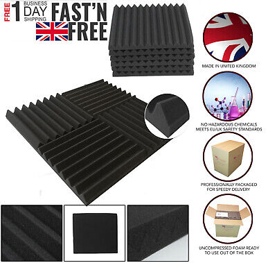 Pro-coustix Ultraflex Wedge Studio Sound Proofing Acoustic Foam Tiles 24panels P