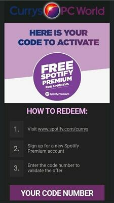 Spotify Premium 6 Months Code - New Accounts Only