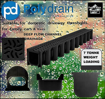 Heavy duty Deep Flow Storm Water Channel Drainage PVC Channel Driveway Aco Drain