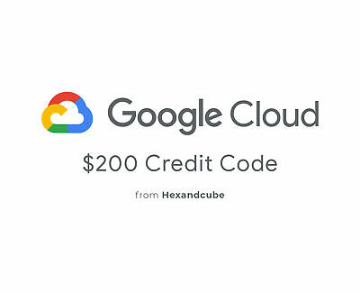 Google Cloud Platform GCP $200 USD Credit Code 1 Year For all accounts!