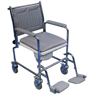 Aidapt Lenham Height Adjustable Mobile Commode (Eligible for VAT relief)