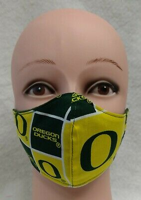 Teen to Adult Oregon Duck Cloth Face MaskHandmade 100% Cotton Flannel Lined