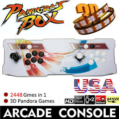 2448 Games Pandora Box 3D Arcade Console Retro Video Game Machine Retro TV HDMI