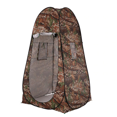 Outdoor Portable Privacy Shower Toilet Tent Camping Pop Up Tent Camouflage