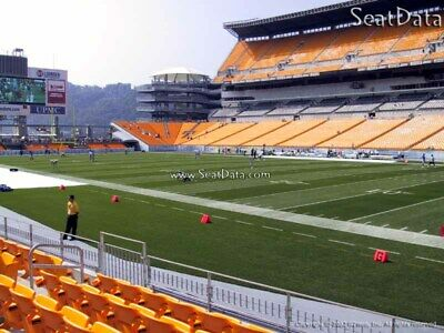 (2) Steelers vs Redskins Tickets Lower Level Sidelines 5th Row!!