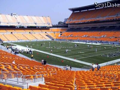 (4) Steelers vs Texans Tickets Lower Level Section 142 row V Aisle Seats!!