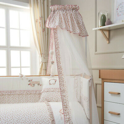 Funnababy Nursery Baby Little Petal Floral Cot Hanging Drape Mosquito Net & Rod