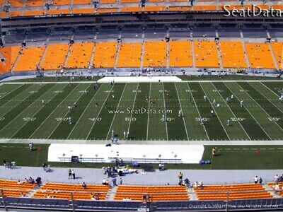 (4) Steelers vs Broncos Tickets Upper Level 50 Yard Line 10th Row!!