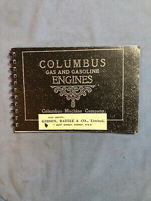 Columbus Cam Stopper Hit Miss Gas Engine Catalog Sales Book