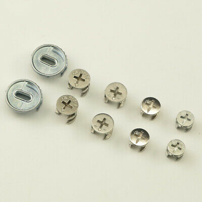 11 12 15 25mm Furniture Cam Locking Screw Nuts Flat pack Fittings Dowel Assembly