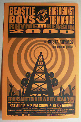 Beastie Boys Rage Against The Machine Concert Flyer Handbill 2000