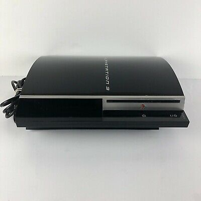 Sony PlayStation 3 Fat PS3  80GB CECHG01 Piano Black Console *Tested*
