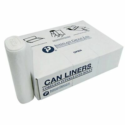 Inteplast Group Interleaved High-Density Can Liners, 60 Gallons, 200-Pack