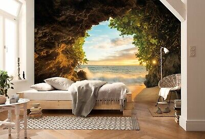 Paper wallpaper 368x254cm Rocket Away Space 3D photo wall mural for kids bedroom