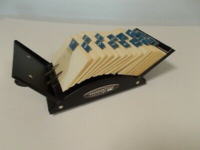 Vintage Metal Rolodex V524 With Dividers and Blank Cards
