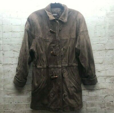 Adventure Bound By Wilsons Thinsulate Womens Size Small Brown Leather Coat