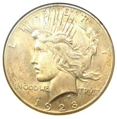 1928 Peace Silver Dollar $1 - Certified ANACS MS61 - Rare 1928-P Key Date Coin!
