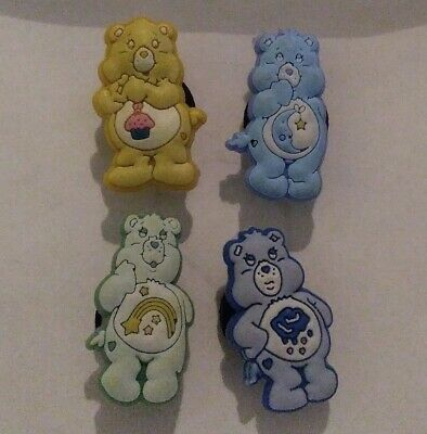 Care Bears Characters 4pc Set SHOE CHARMS LOT FOR CROC SHOES JIBBITZ BRACELET
