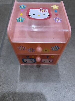 Hello Kitty Pink Drawer Jewelry Trinket Holder Cubbie Storage