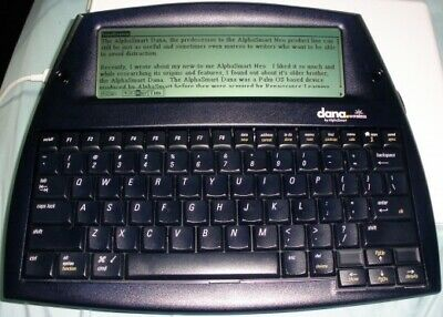 Dana wireless AlphaSmart Portable Word Writing  processor W/ usb Cable & Bag
