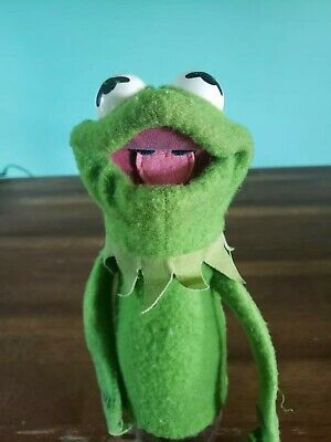 Vintage Fisher Price Kermit The Frog Hand Puppet #860 Jim Henson 1978