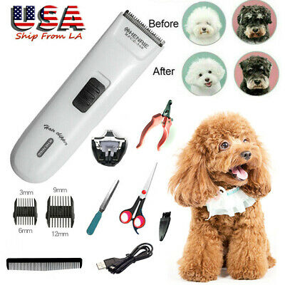 1 set Pet Dog Clippers Grooming Hair Trimmer Groomer Shaver Razor Quiet Clipper