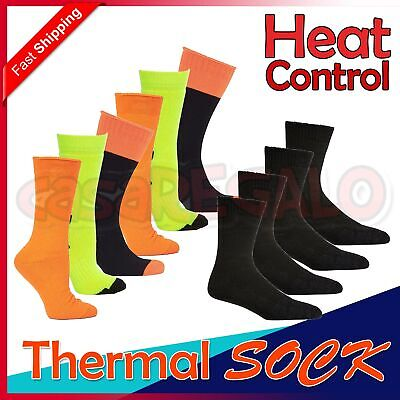Mens Kids High Visibility Work Boot Heavy Duty Thermal Thick Socks